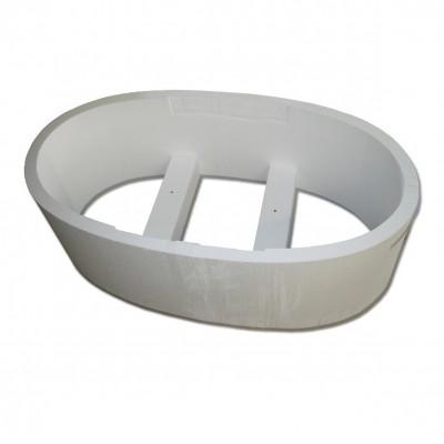 Hoesch Wanne Largo oval Ellipse 200/100/48 cm