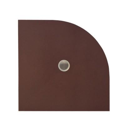 Duschelement 90/90/3,7 cm V-Kreis