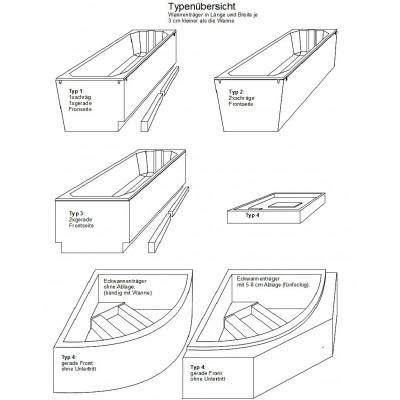 Wannenträger für Duo Pool 150-1 150x100x50,5 cm