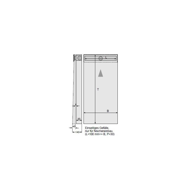 duschelement mit dallmer duschrinne 90x160 cm. Black Bedroom Furniture Sets. Home Design Ideas