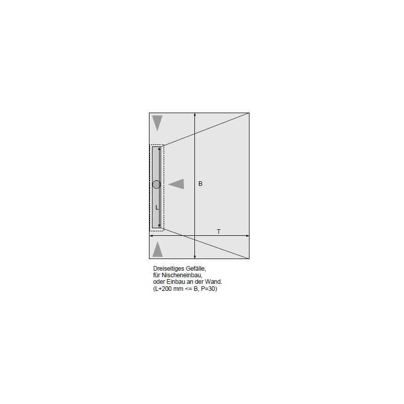 duschelement mit dallmr duschrinne 70x90 cm. Black Bedroom Furniture Sets. Home Design Ideas