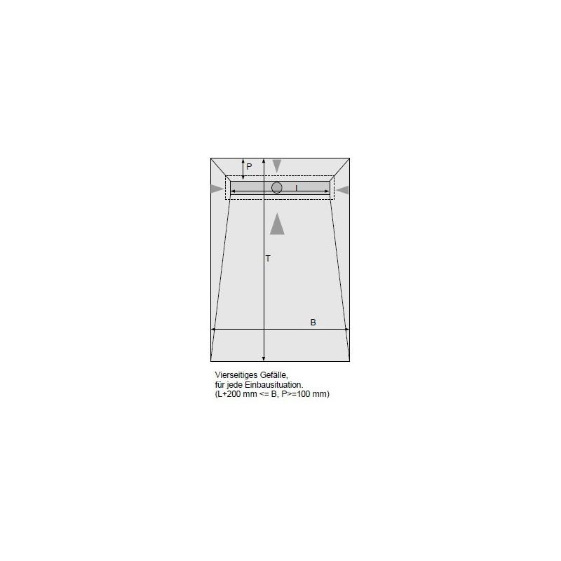 duschelement mit dallmr duschrinne 90x120 cm bodeneben verfliesbar inkl ablauf edelstahlabdeckung. Black Bedroom Furniture Sets. Home Design Ideas