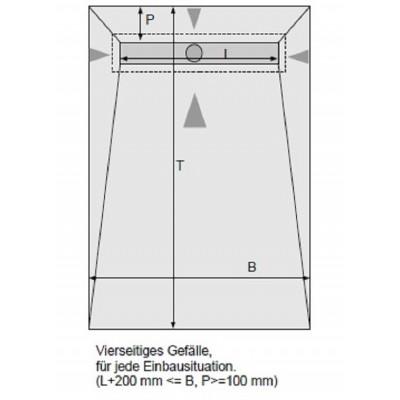 Duschelemente mit Duschrinne 100x100 cm